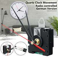 Funk-Uhrwerk DCF + 3 Zeigersets Rot Zeiger Wanduhr Funkuhr Funk Wand Uhr Uhrwerk