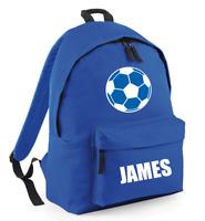 Personalised Kids Backpack - Any Name Football Back To School Bag BG125j