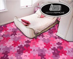 Kid's Carpet Puzzle, Patchwork, Play Carpet Purple, Animals all Sizes