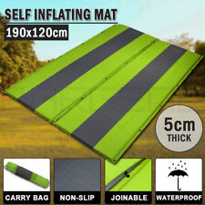 Double Self Inflating Mattress Sleeping Mat Air Bed Camping Hiking Joinable Gree