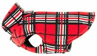 RC Pet Products Whistler Winter Wear V.2 Fleece Dog Coat, Size 14, Red Tartan