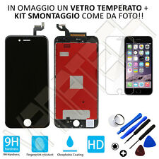 TOUCH SCREEN LCD DISPLAY RETINA FRAME PER APPLE IPHONE 6S PLUS NERO GLS 24/48H