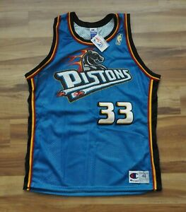 GRANT HILL DETROIT PISTONS Authentic Gold 50th Jersey Champion Horse Head 48 NEW