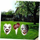 Halloween Decorations Outdoor, Extra Large Killer Clown Yard Signs with Stake,