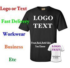 d50b17e34897 Custom Printed T shirts Personalised S-XXX L Text Logo Business Workwear  Event