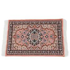 1/12 Dolls House Mini Red Pattern Woven Rug Floor Carpet Coverings 25*15cm Hot