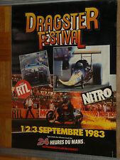 Affiche Le Mans DRAGSTER  Festival   1983    Auto Moto course Poster