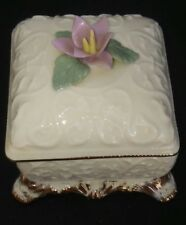Romance Porcelain Music Trinket Box Handcrafted Vintage Plays THE WAY WE WERE