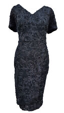 Phase Eight/8 demi tapework Sequin Robe Taille 10 £ 140!!!