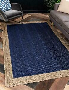 Indian Jute RUG 100%Natural Hand Braided Bohemian rustic home décor Jute Rag Rug