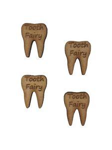 20x Tooth Fairy Teeth 2cm Wood Craft Embelishments Laser Cut Shape MDF