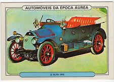 1986 Portugese Pocket Calendar Featuring Vintage Car - Alfa Romeo 1910