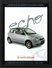 "2004 TOYOTA ECHO AD A3 FRAMED PHOTOGRAPHIC PRINT 15.7""x11.8"""