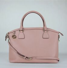 2cc56ebf8688d2 Gucci Powder Pink Leather GG Charm Convertible Dome Bag with Strap 449660  5806