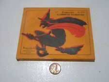 VINTAGE HALLOWEEN DENNISON'S ILLUMINATED SILHOUETTES OF WITCHES BOX