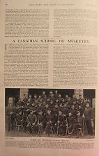 1902 PRINT ~ A CANADIAN SCHOOL OF MUSKETRY NAMED