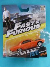 Voiture 1/55 - MATTEL - Vin Diesel - Fast & Furious - Plymouth Roadrunner 1970