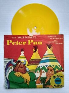 RD37 PETER PAN WHAT MADE THE RED MAN RED Golden Disney 78 RPM Record