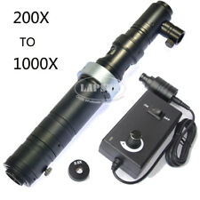 200X- 1000X Zoom Stereo Microscope Camera Coaxial Light Monocular C-mount Lens S