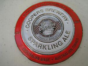 Australiana BEER badge COOPERS metal BEER tap badge Coopers Brewery SPARKLINGaLE