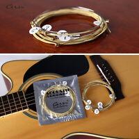 Folk guitar strings acoustic guitar strings brass hexagonal steel core string