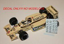 decal tobacco Arrows A8 Boutsen Surer 1985-86 1/43 minichamps F1