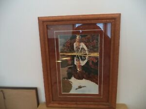 "BEV DOOLITTLE The Good Omen Matted & Framed Fine Art Print 18 3/4"" X 14"""