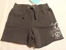 Amy Coe 3-6 Month Cotton Spandex Grey Peace Shorts NWT Everyday Summer