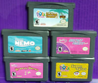 Nintendo Game Boy Advance Girls Lot Disney Barbie Finding Nemo Dora Explorer