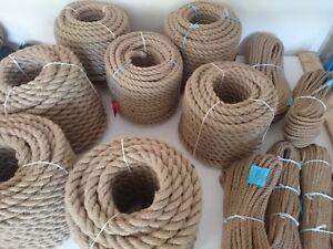 Juteseil Jute Rope 30 mm – 70 mm Jute Seil Hanfseil Hanf Seil 5 -50 m Tau