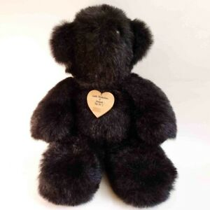 "Black Teddy Bear Gentle Distractions Rare 20"" Vintage Vermont U.S.A."