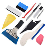 10PCS Car Window Paper Film Stickers Cutting Squeegee Tool Kit Auto Accessories