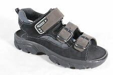 Jela Boys Sandals Slippers Real Leather Black/Grey New