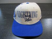 VINTAGE Sports Specialties Tampa Bay Lightning Hat Cap NHL Hockey Snap Back 90s