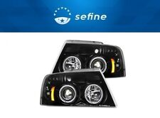 Recon For 2004-08 Ford F-150 Black/Smoke Halo Projector Headlights 264198BK