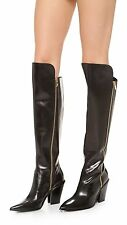 Sigerson Morrison Ilane OTK Black Leather Over The Knee Boots 40 EUC RTL $795
