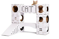 Cat Activity Centre Kitten Toys Castle Cardboard Large Play Boxes Toy Tunnel Box