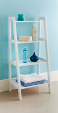 Stylish Ladder Shelf Crisp White Finish Great Interior Choice For Your Home