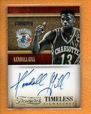 Kendall Gill 2013-14 Panini Timeless Treasures Timeless Signatures Auto /299