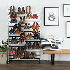 New Metal Shoe Rack Storage Stand for up to 50 Pairs Orgainsed