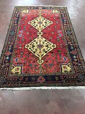 "Semi Antique Handmade Persian Hamadan-Malayer Geometric Rug Carpet 5x8,4'9""x7'8"""