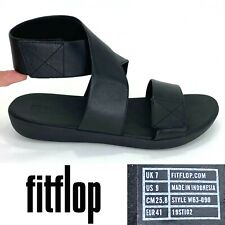 FitFlop CARIN Women's Size US 9, EU 41 Black Ankle Strap Adjustable Sandals