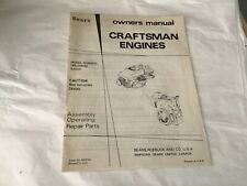 Owners manual 1971 SEARS 6HP craftsman engines model 143.226032