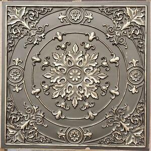 Ceiling tiles 24x24 Faux tin classic aged brass decor wall panels PL18 10pcs/lot