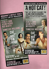"""Ashley Judd """"CAT ON A HOT TIN ROOF"""" Ned Beatty / Tennessee Williams 2003 Flyers"""