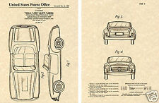 1955 Mercedes Benz 190 SL US PATENT Art Print READY TO FRAME!!!!! MB 190sl