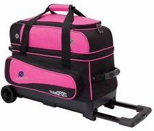 Ebonite Transport 2 Ball Roller Bowling Bag with Wheels Pink 5 Year Warranty