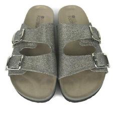 White Mountain Footbeds Horizon Sandal Gold Glitter Womens Slides Size 10