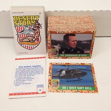 DESERT STORM 1st SERIES Topps/1991 COMPLETE CARD SET W/ STICKERS TIFFANY EDITION