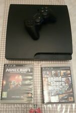 PS3 PLAYSTATION 3 - CONSOLE SONY 320 G + 2 GIOCHI MINECRAFT + GTA5